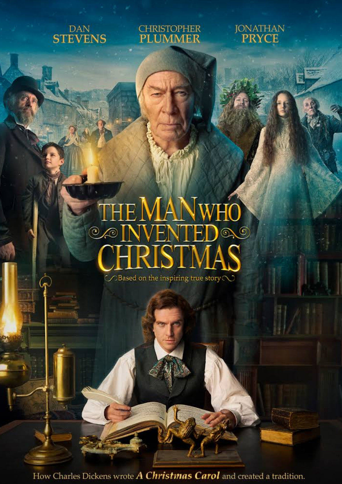'The Man Who Invented Christmas' movie poster
