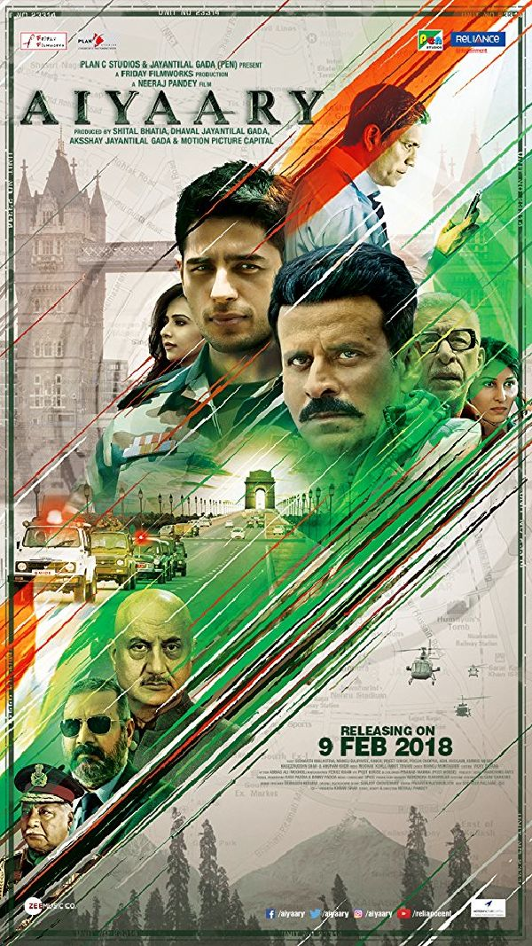 'Aiyaary' movie poster