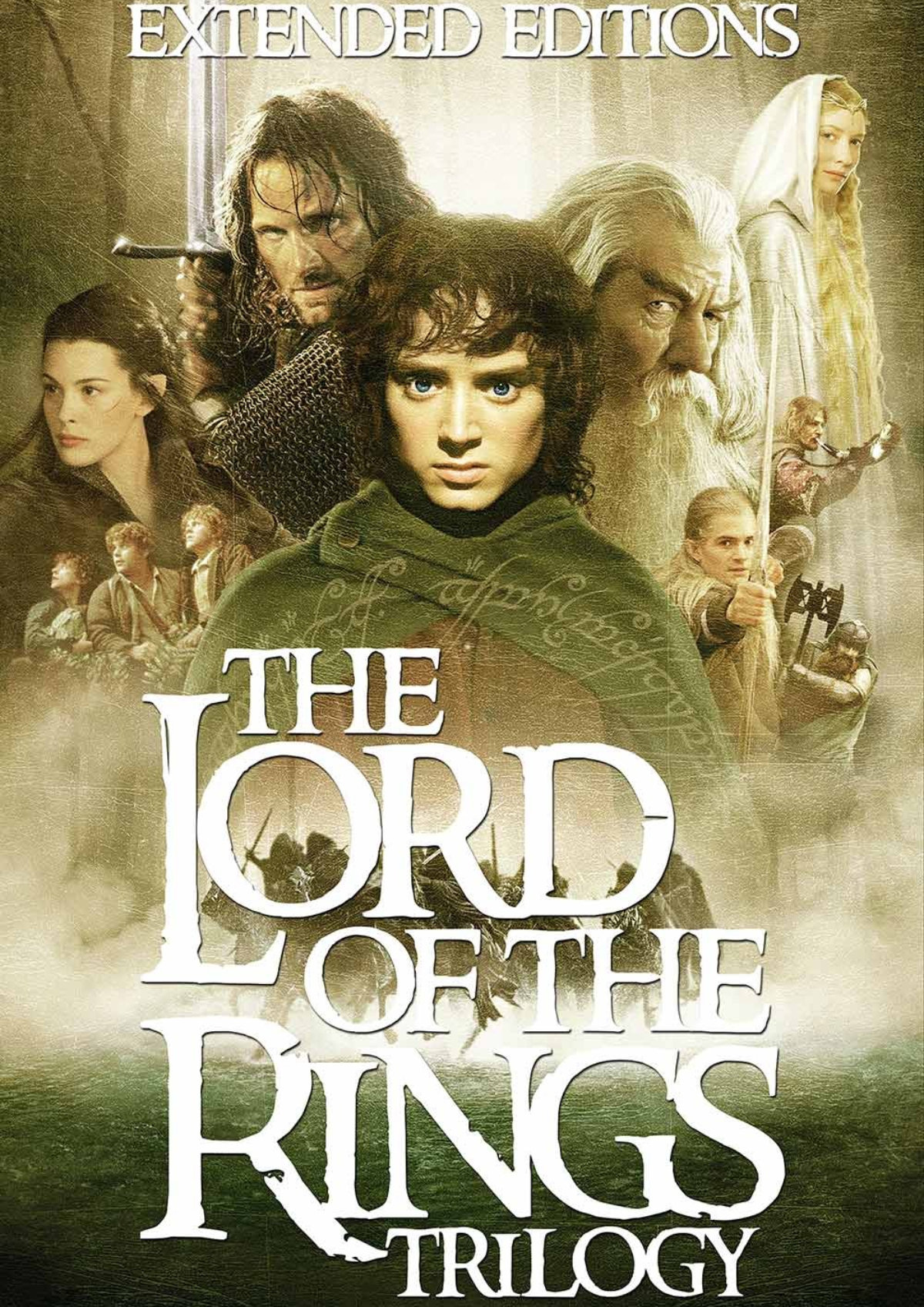 'The Lord Of The Rings Trilogy: Extended Editions' movie poster