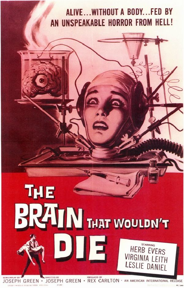 'The Brain That Wouldn't Die' movie poster