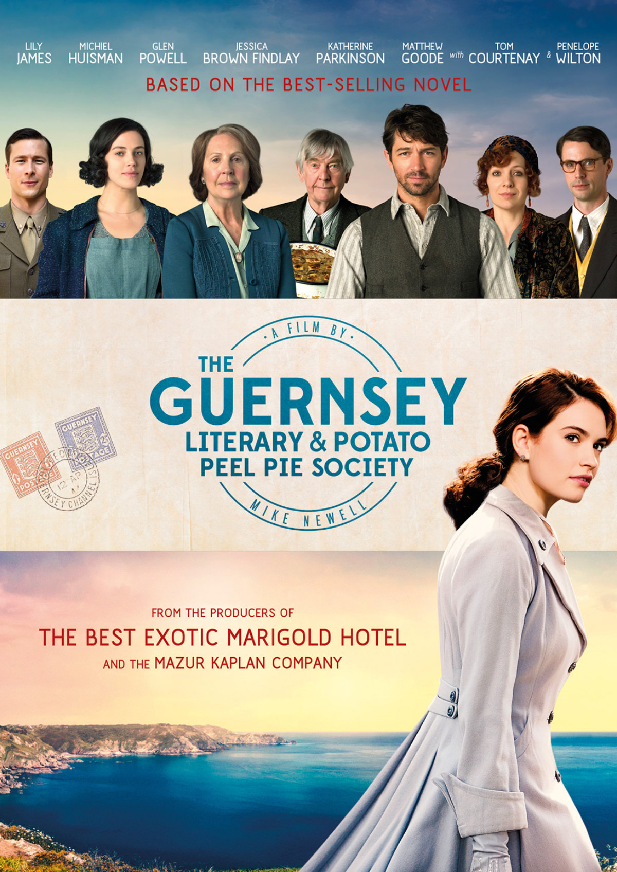'The Guernsey Literary And Potato Peel Pie Society' movie poster