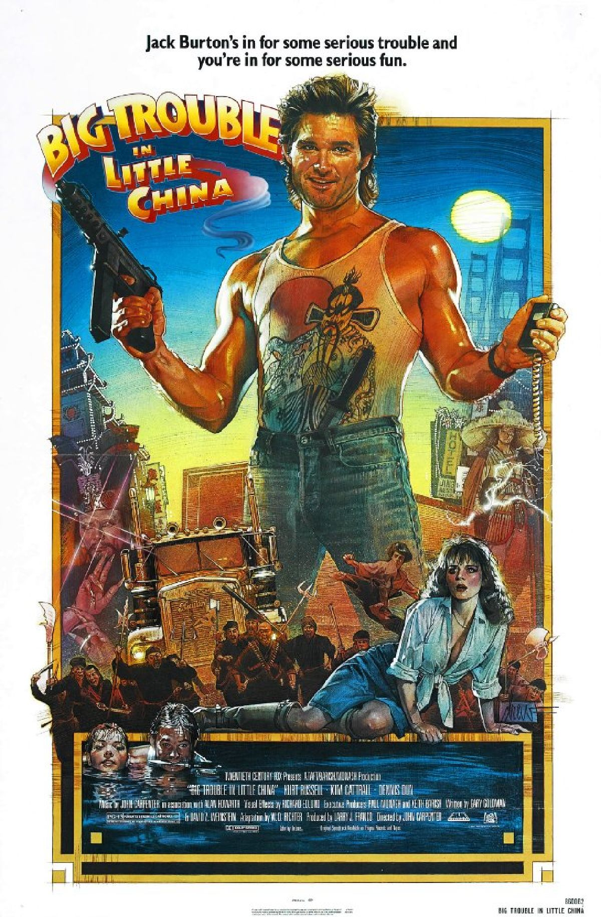 'Big Trouble in Little China' movie poster