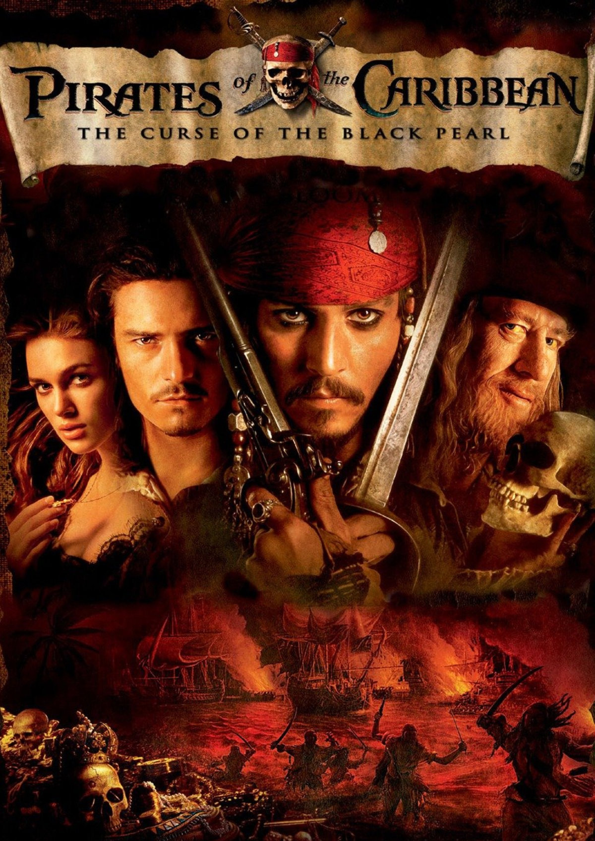 'Pirates Of The Caribbean: The Curse Of The Black Pearl' movie poster