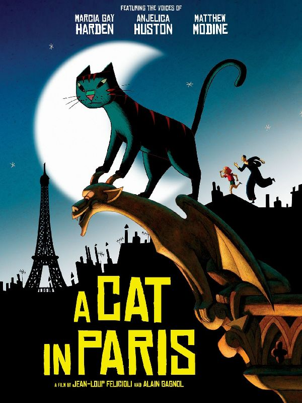 'A Cat In Paris (Une Vie De Chat)' movie poster