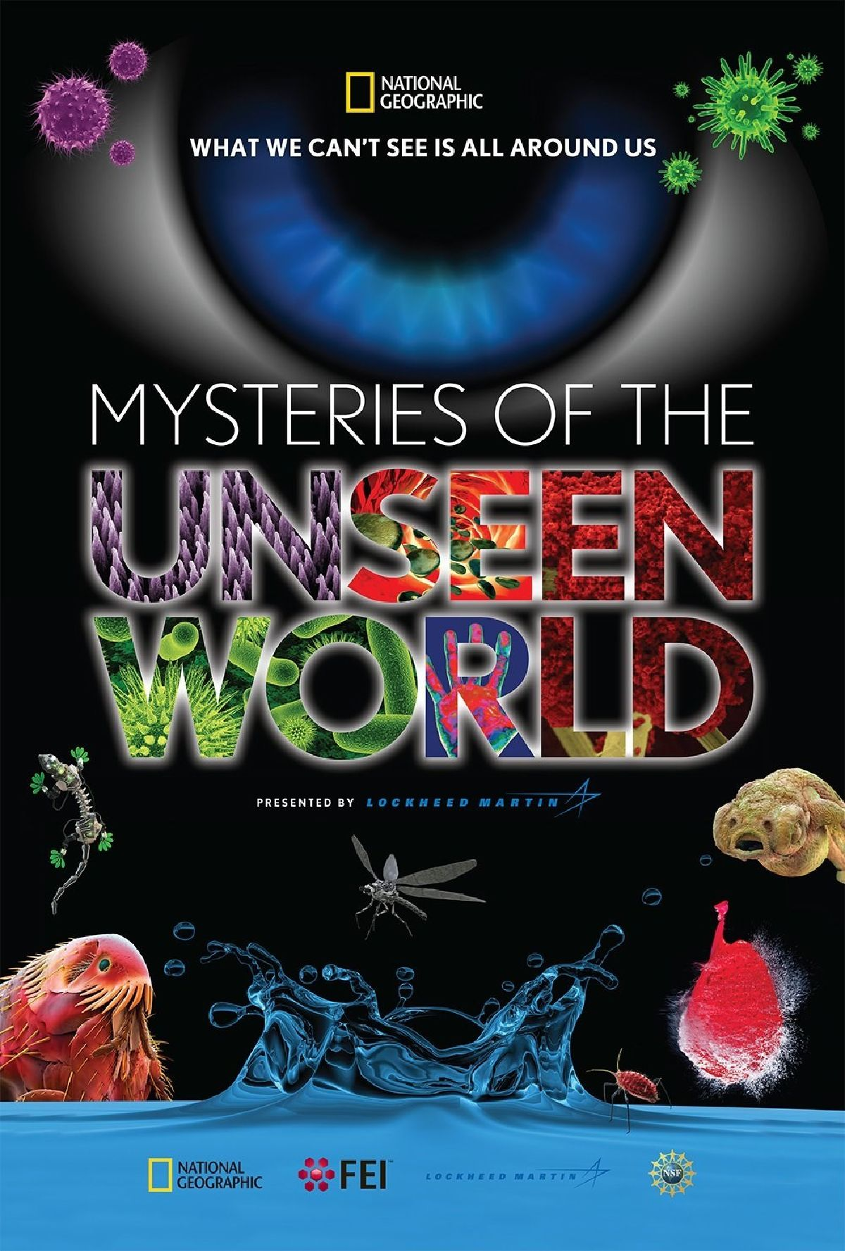 'Mysteries of the Unseen World 3D' movie poster