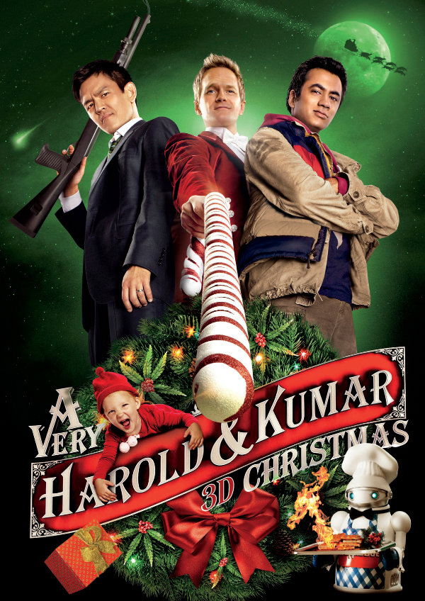 'A Very Harold & Kumar Christmas' movie poster