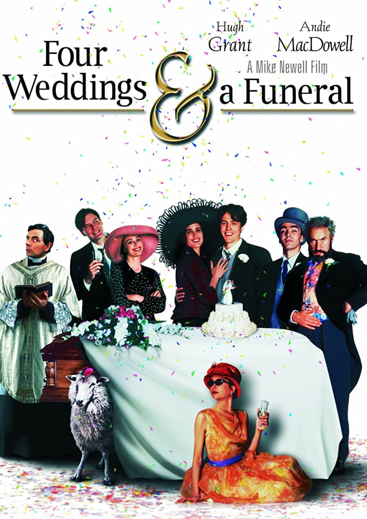 'Four Weddings and a Funeral' movie poster