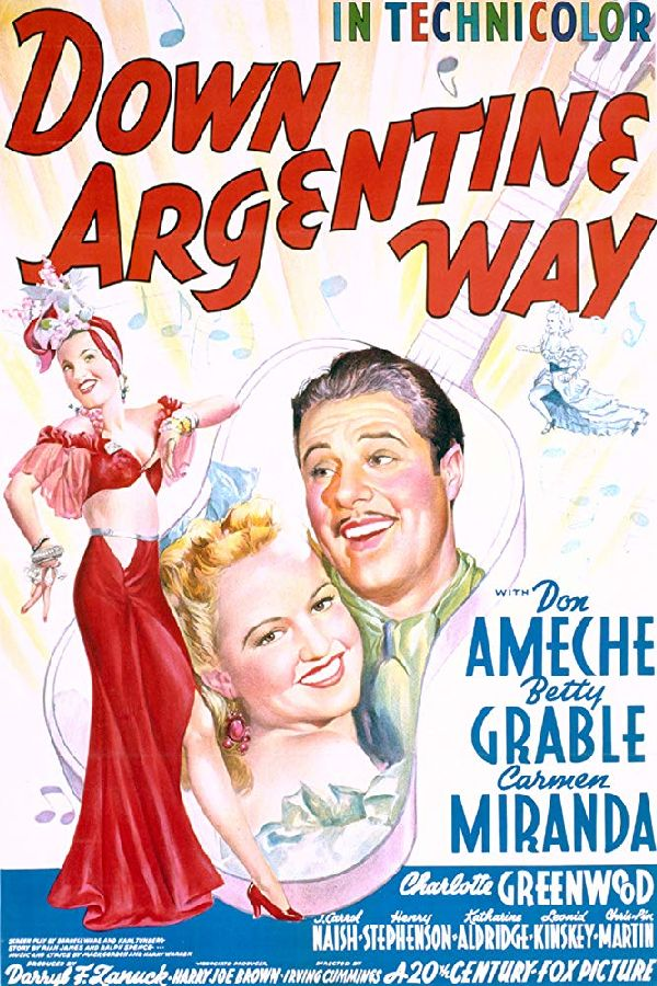 'Down Argentine Way' movie poster