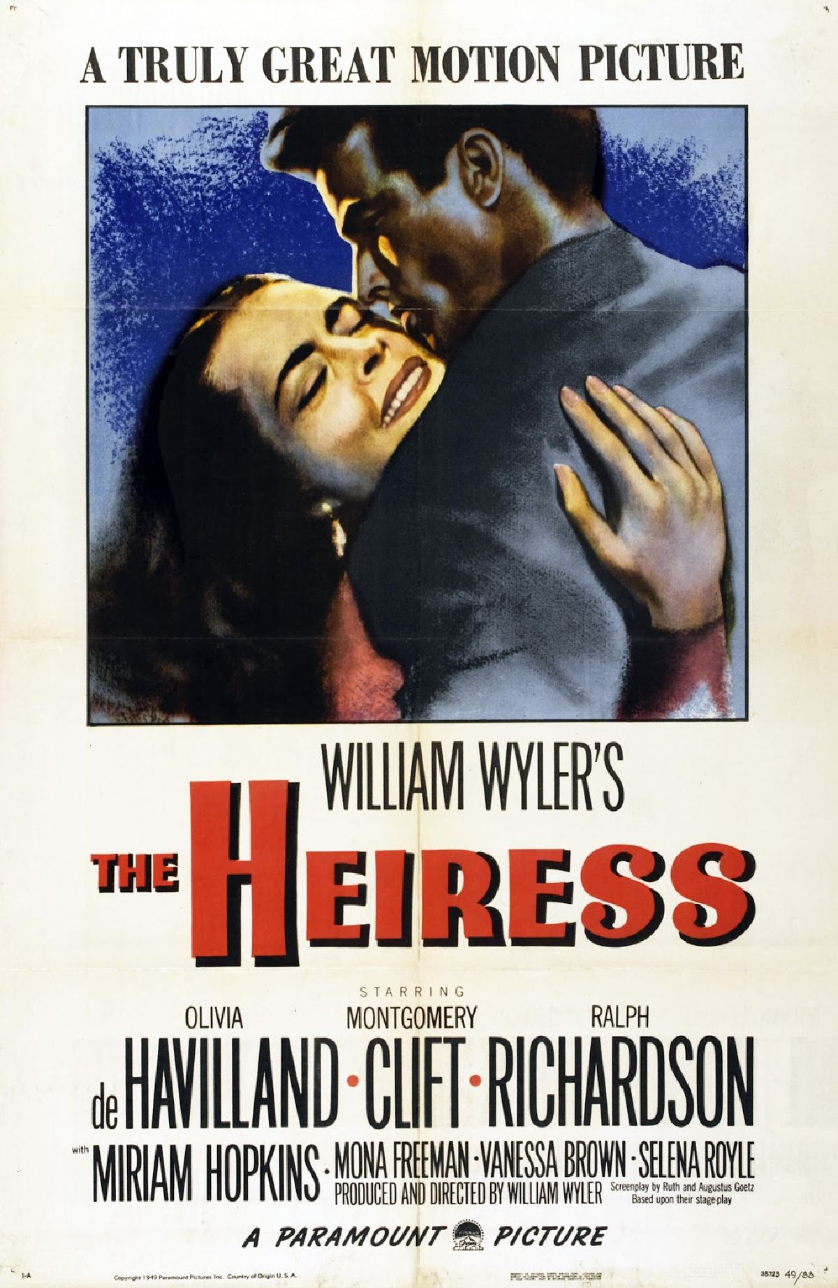 'The Heiress' movie poster