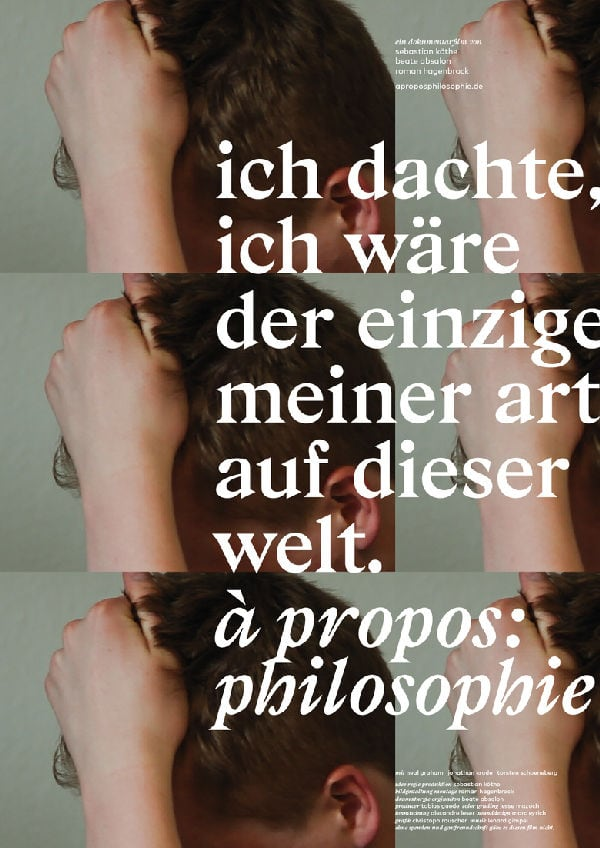 'a propos: philosophie' movie poster