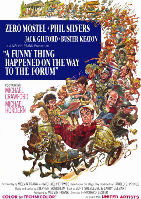 'A Funny Thing Happened On The Way To The Forum' movie poster