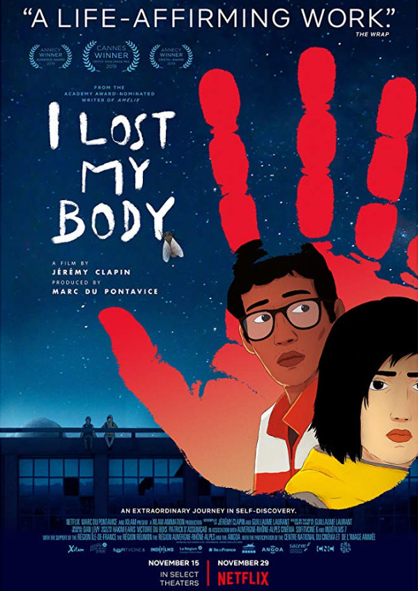 'I Lost My Body (J'ai Perdu Mon Corps)' movie poster