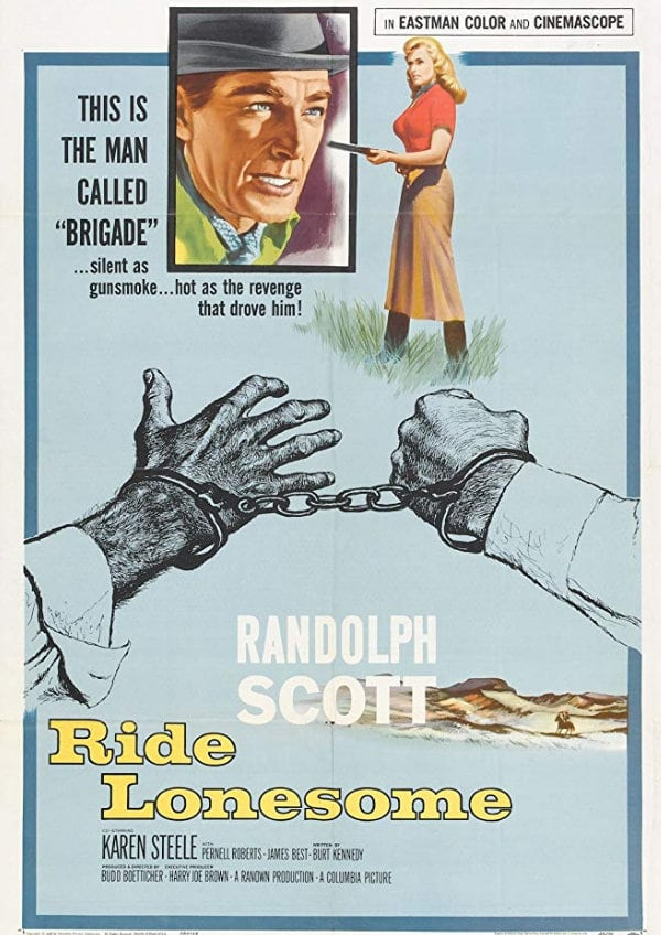 'Ride Lonesome' movie poster