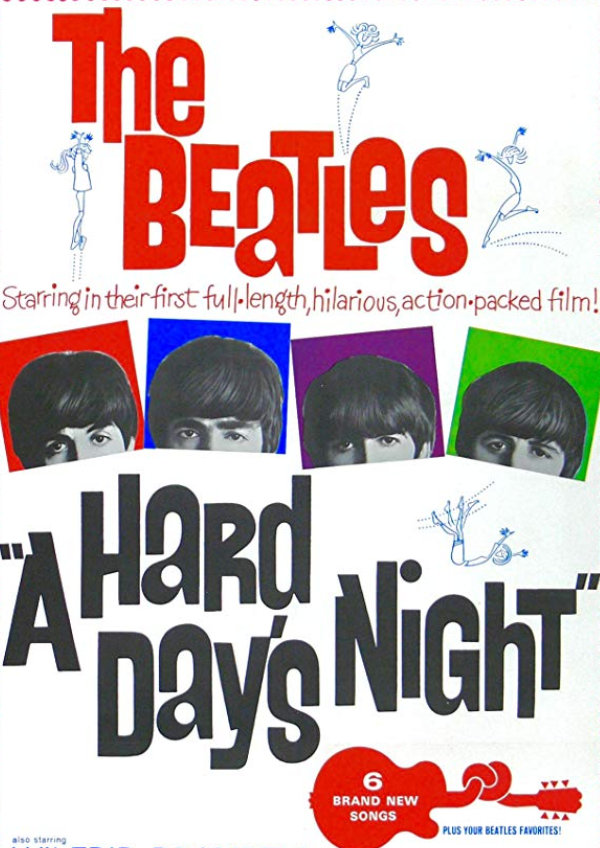 'A Hard Day's Night' movie poster