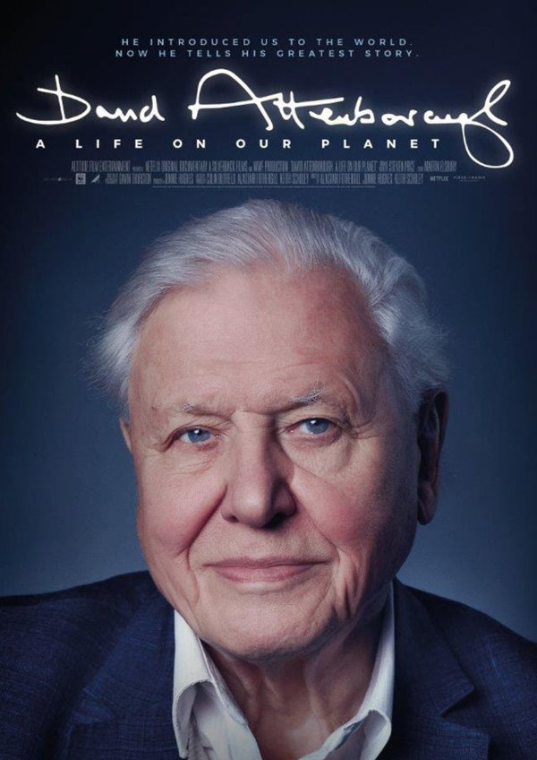 'David Attenborough: A Life On Our Planet' movie poster
