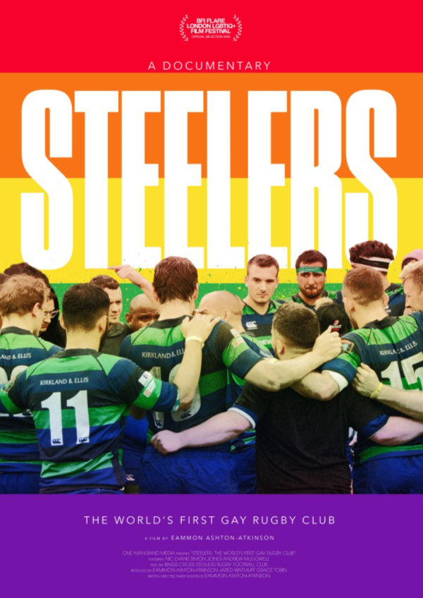 'Steelers: The World's First Gay Rugby Club' movie poster