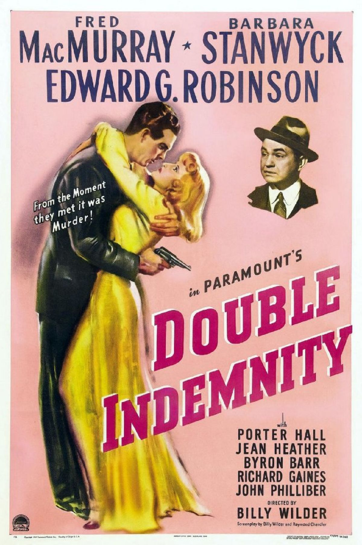 'Double Indemnity' movie poster