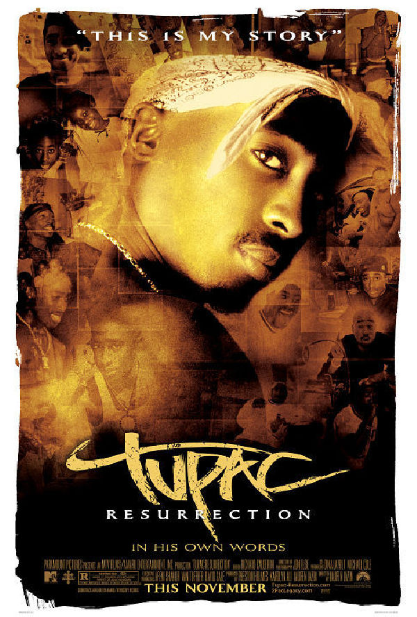 ' Tupac: Resurrection' movie poster