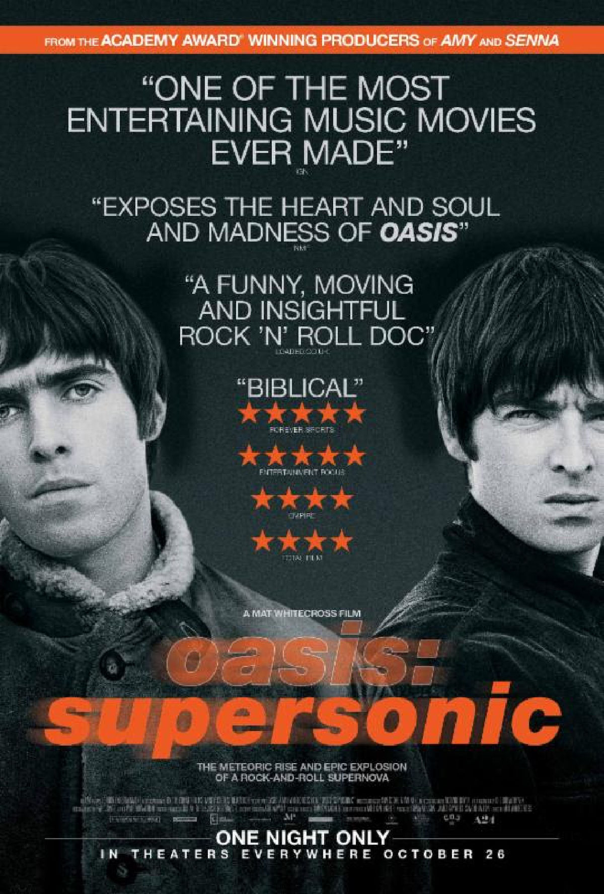 'Oasis: Supersonic' movie poster