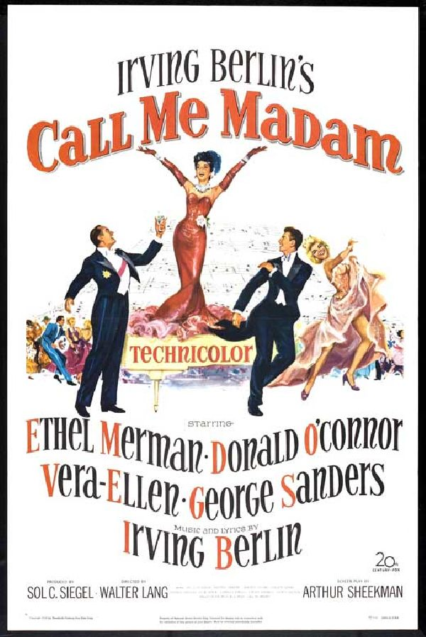 'Call Me Madam' movie poster